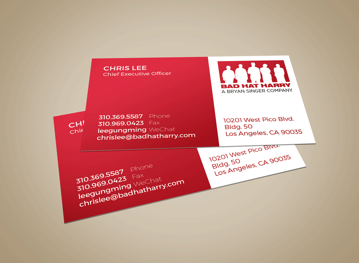 Bad Hat Harry Business Card Design – Sam Moyer Design